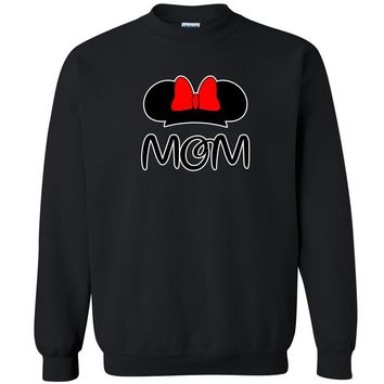 Zexpa Apparel™ Mom Catoon Head Unisex Crewneck Couple Matching Valentines Day Sweatshirt