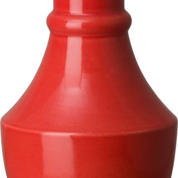 Bella Longneck Vase With A Coral Red Glaze