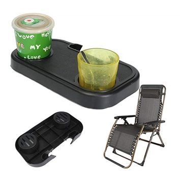 Portable Chair Side Cup Holder Table Tray  For Drink Outdoor Beach Garden Camoing Picnic Versatile Side Tray For Folding Chair