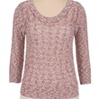 2 In 1 Open Stitch Sweater And Chiffon Trim Top - Dusty Plum Combo