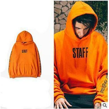 HOT Purpose Stuff Fashion Brand Hoodies Justin Bieber Skateboard Streetwear Hoodies Orange Lover's Casual Loose Sweatshirts