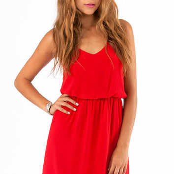 Strap Chiffon Mini Dress