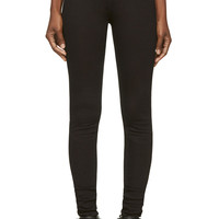 Rick Owens Drkshdw Black Denim Stretch Legging