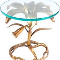 One Kings Lane - Jay Jeffers - Gold Flower Side Table