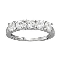 Forever Brilliant 1 1/5 Carat T.W. Lab-Created Moissanite 14k White Gold 5-Stone Ring