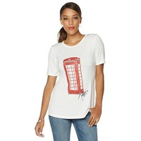 Love Twiggy Iconic London Tee - 8083279 | HSN