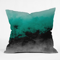 Caleb Troy Zero Visibility Emerald Outdoor Throw Pillow