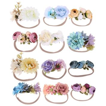 3pcs/pack Colorful Flowers Newborn Baby Kid Children Headdress Toddler Headbands Photography Props Hair Accessories