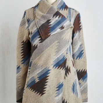70s Long Long Sleeve Quick Cappuccino Run Coat