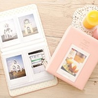 [Fuji Instax Mini Photo Album] -- CAIUL Pieces Of Moment Book Album For Films Of Instax Mini 7s 70 8 25 50s 90/ Pringo 231/ Fujifilm Instax SP-1/ Polaroid PIC-300P/ Polaroid Z2300 (64 Photos, Pink)