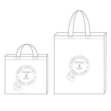 Wanderlust Passport Stamp Personalized Tote Bag Tote Bag with Gussets (Pack of 1)