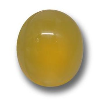4.40 ct  Oval Cabochon Yellow Agate 11.5 x 9.9 mm