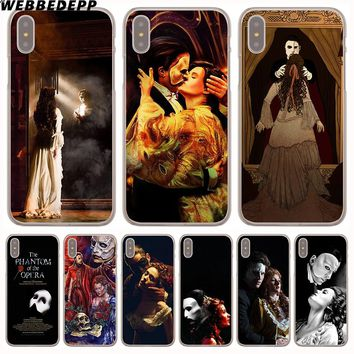 WEBBEDEPP The Phantom of the Opera Hard Phone Case for iPhone X XS Max XR 7 8 6S Plus 5 5S SE 5C 4 4S Cover