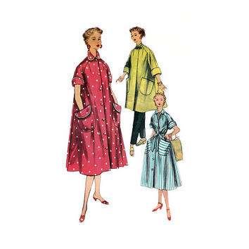 "1950s Simplicity 4471 Woman's Robe or Shift Dress Size 14 || Bust 32""/ 81cm 