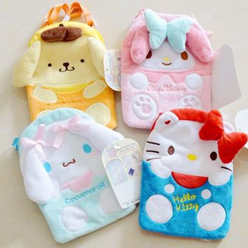 Cartoon My Melody Hello Kitty Cinnamoroll Pudding Dog Plush Bags Cute Mobile Phone Package Shoulder bag mini backpack for girls