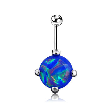 New Charming Dangle Crystal Navel Belly Ring Bling Barbell Button Ring Piercing Body Jewelry (With Thanksgiving&Christmas Gift Box)= 4661636804