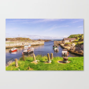 The Little Harbour Canvas Print by Peaky40