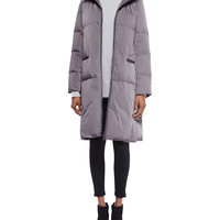 Lorna Down Coat W/ Mink Fur Trim, Size: LARGE12-14, CINDER - Lafayette 148 New York