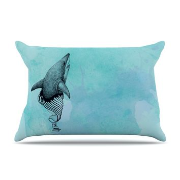 "Graham Curran ""Shark Record III"" Pillow Case"