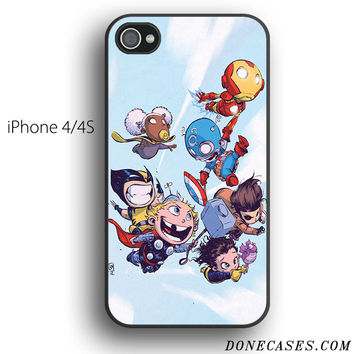 the avengers cute babies case for iPhone 4[S]