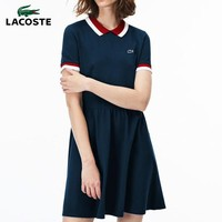 Lacoste 2019 new women's fashion versatile long pleated casual POLO dress