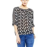 Vince Camuto Relaxed Back Blouse