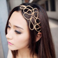 Gold Fashion Head Jewelry Headband