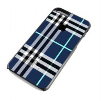 Blue Burberry  Patterns Apple for iphone 6 plus case