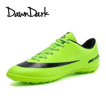 Football Shoes Men Spring Summer Boys Turf Soccer Cleats Spring Summer Black Orange Male Athletic Soccer Boots Cheap