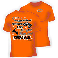 Girlie Southern Dirt Road Riding T-shirt in Orange