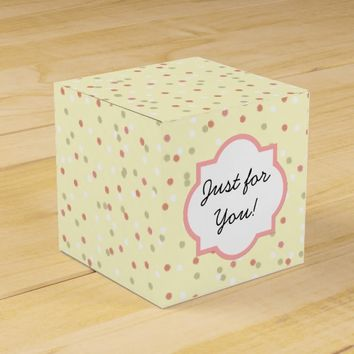 Confetti Cake • Yellow Buttercream Frosting Party Favor Box