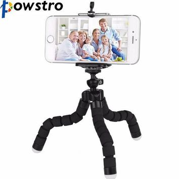 ICIKJY1 POWSTRO K Mini Portable Flexible Sponge Octopus Tripod Stand Mount With Holder For Phone Gopro Camera Tripode Drop Shipping