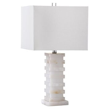 Thebes Table Lamp, Alabaster, Table Lamps