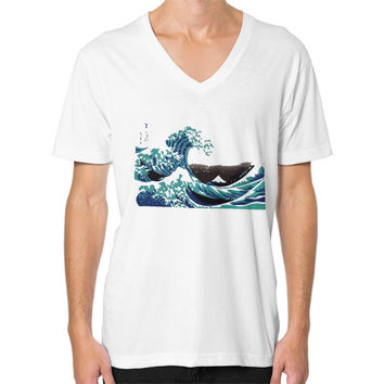 The Wave V-Neck (on man) Shirt