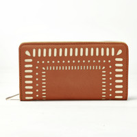 Cut It Out Wallet in Cognac