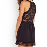 Back Transparent Lace Sundress