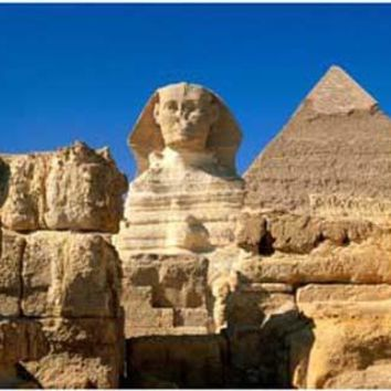 Ancient Egypt Pyramids and Sphinx Poster 11x17