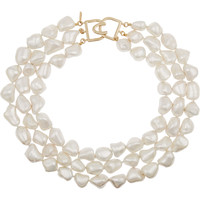 Kenneth Jay Lane - Gold-plated faux pearl necklace