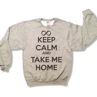 Keep Calm and Take Me Home - One Direction Women's Sweatshirt - All Sizes Available - 1D Pull Over Sweater - Item 012