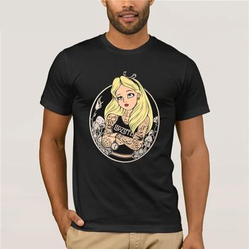 alice tattoo unique design T-Shirt Alice in Wonderland
