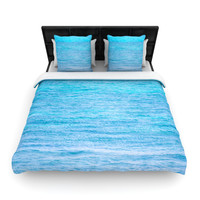 "Catherine McDonald ""South Pacific II"" Ocean Water Woven Duvet Cover"