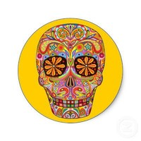 Day of the Dead Sticker from Zazzle.com