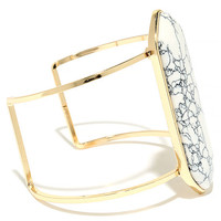 Artistry Gold and White Cuff Bracelet