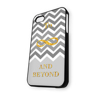 Chevron To infinity and beyound toy story quote iPhone 4/4S Case