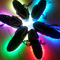 Black Mid Top Light Up Sneakers