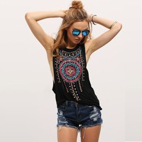 Women clothes Sleeveless  Summer Casual Top