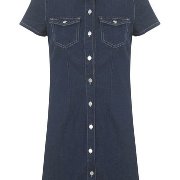 Petites Denim Shirt Dress | Missselfridge