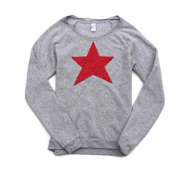 Oh My Stars Sweatshirt Jumper - Red, Silver, Royal Blue or Navy Blue Sequin Patch