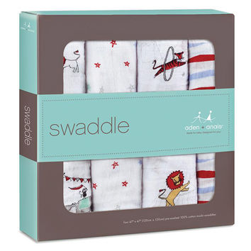 Classic Swaddle 4 Pack- Vintage Circus