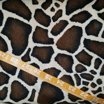 Suede cloth fabric Giraffe animal print spots costumes Alova quilting sewing material to sew by the yard craft project BTY x 58""